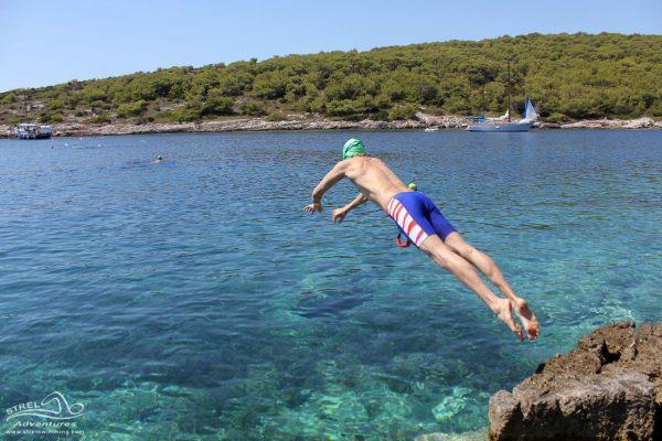 Swimming around Obanjan island