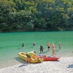 Swimming in Slovenian Soca River