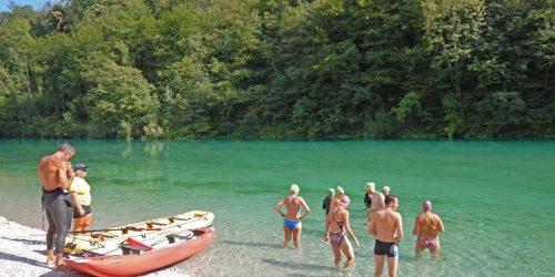 Swimming in Slovenian Soca River
