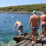 Kroatien-Meer-Schwimmen