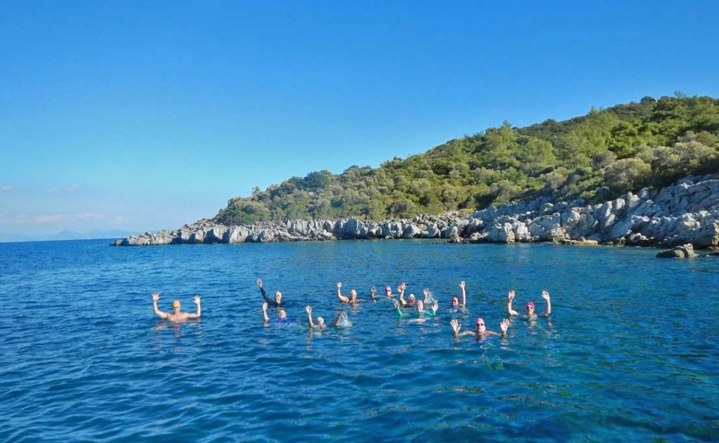 Vacation-Swimming-In-Mediterranean-Sea