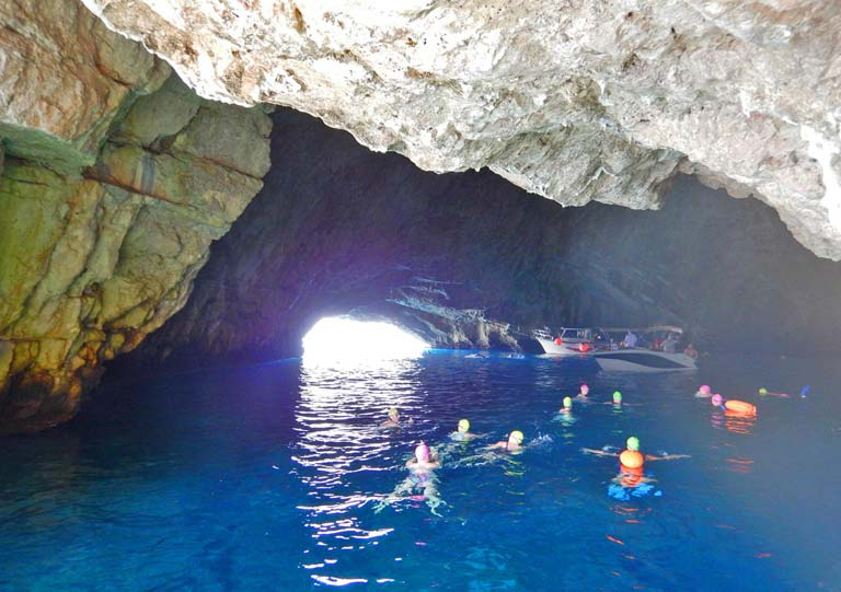 Swimming-In-Blue-Cave-Montenegro