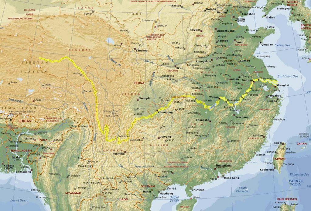 Yangtze-River-China-Map