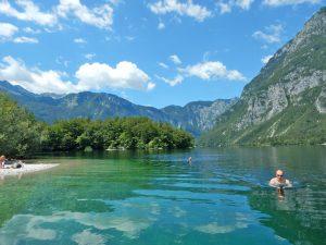Swimming-Slovenian-Lake-Bohinj