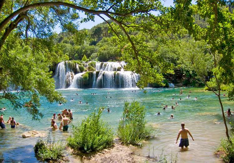 Krka River -National-Park, Croatia Swimming