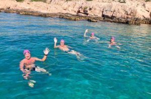 Swimming the Croatian islands near Sibenik, Croatia