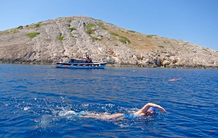 Swimming in Kornati National Park, Croatia