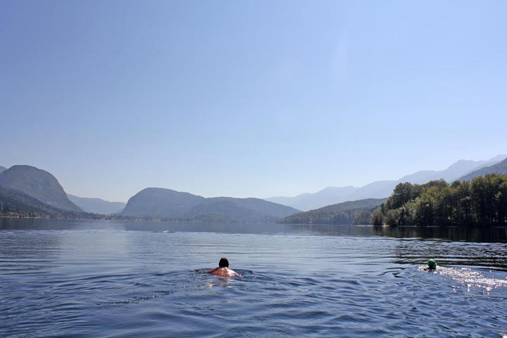 Lake-Bohinj-Swimming