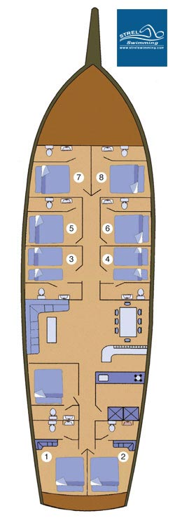 Liveaboard-Swimming-Holiday-Boat-Layout