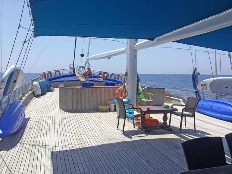 Turkish-Gulet-Boat-Deck